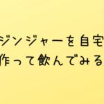 柚子ジンジャーを自宅で作って飲んでみる!